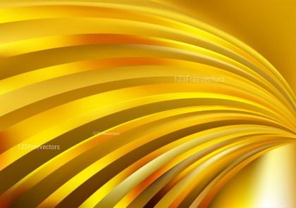 Gold Shiny Curved Stripes Background