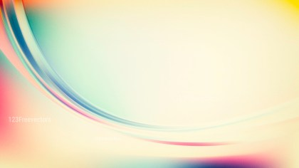 Abstract Light Color Wave Background Template