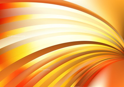 Abstract Orange and White Shiny Curved Stripes Background