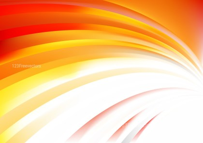 Orange and White Curved Stripes Background Image