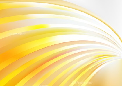 Orange and White Curved Stripes Background Vector Image