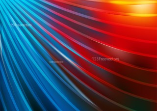 Abstract Red and Blue Shiny Curved Stripes Background Illustration