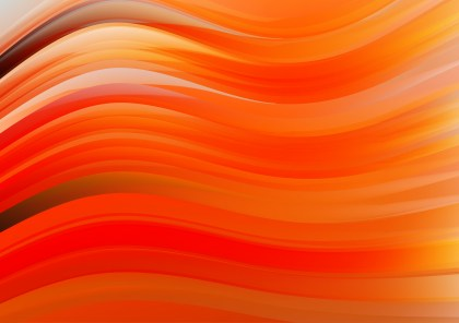 Abstract Red and Orange Wavy Background