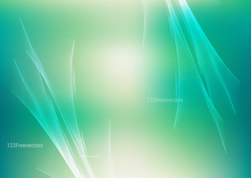 Abstract Beige and Turquoise Fractal Background Illustration