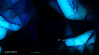 Abstract Black and Blue Fractal Wallpaper