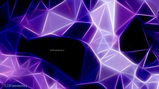Abstract Black Blue and Purple Fractal Wallpaper Graphic