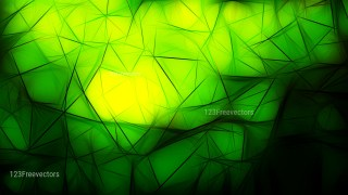 Abstract Black Green and Yellow Fractal Wallpaper Image