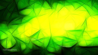 Abstract Black Green and Yellow Fractal Background