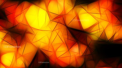 Abstract Black Red and Yellow Fractal Background Design