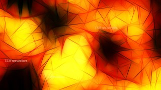 Abstract Black Red and Yellow Fractal Wallpaper