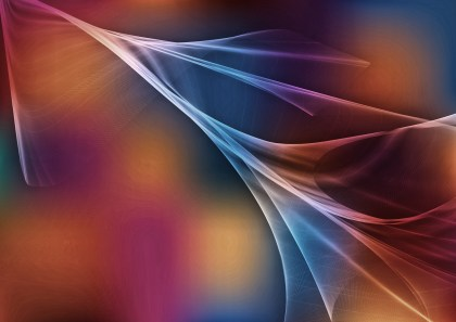 Abstract Blue and Brown Fractal Wallpaper Image