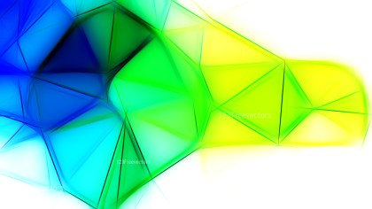 Abstract Blue Green and Yellow Fractal Background