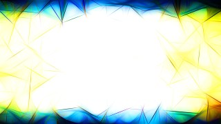 Abstract Blue Yellow and White Fractal Wallpaper Graphic