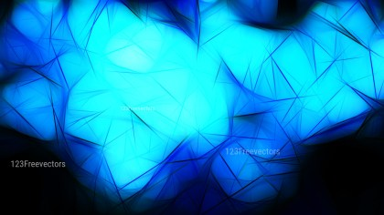 Abstract Cool Blue Fractal Light Lines Background