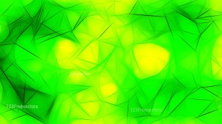Green and Yellow Fractal Background Design