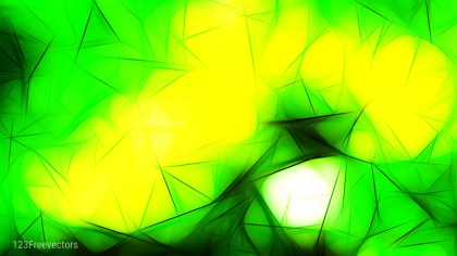 Abstract Green and Yellow Fractal Background Illustration