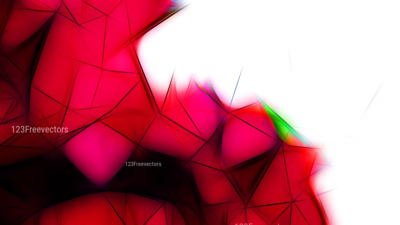 Abstract Red Black and White Fractal Wallpaper