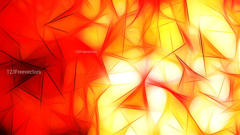 Red White and Yellow Fractal Wallpaper Image