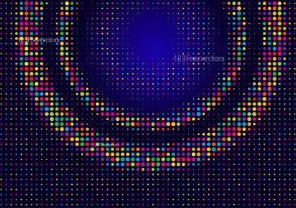 Abstract Colorful Dots Background Design