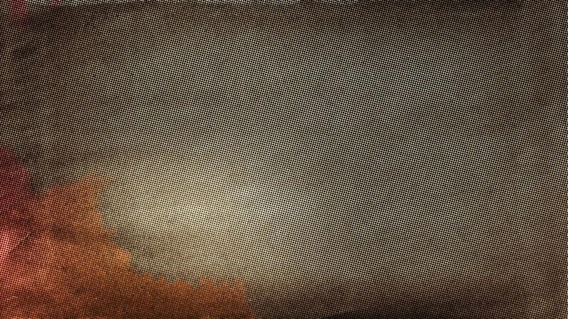 Dark Brown Distressed Halftone Dots Texture