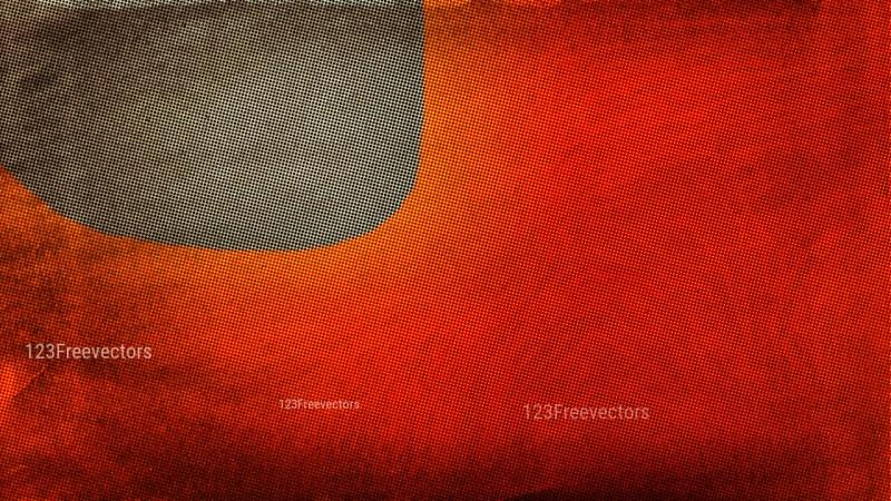 Orange and Brown Grunge Halftone Pattern Texture Image