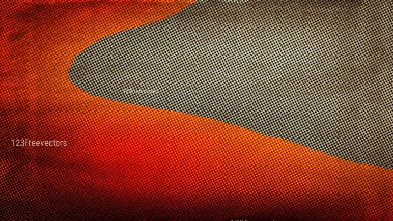 Orange and Brown Grunge Halftone Background Design