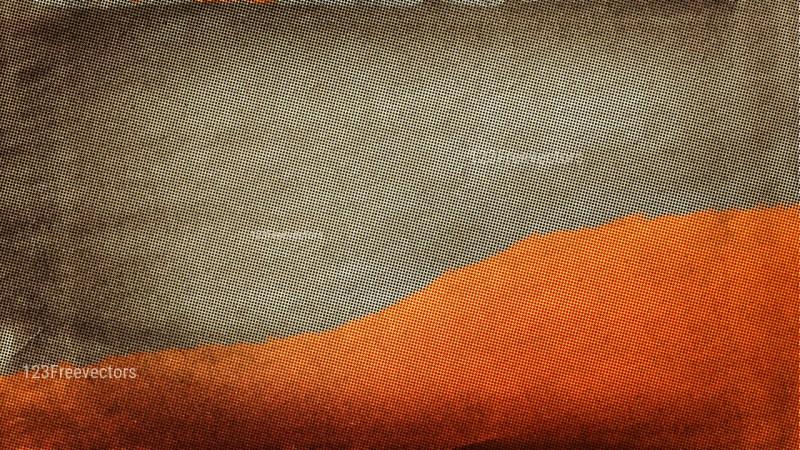 Orange and Brown Distressed Halftone Texture