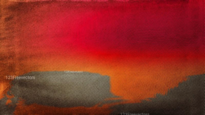 Pink Orange and Brown Grunge Halftone Dots Background