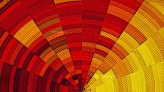 Red and Orange Distressed Halftone Background Design