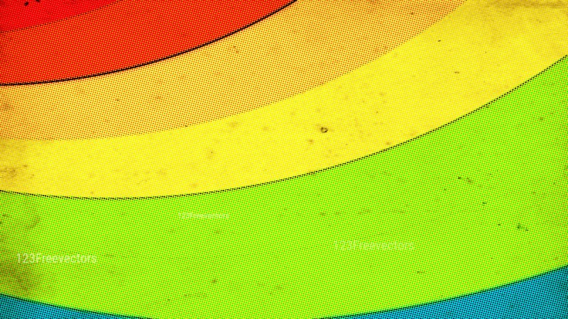 Red Yellow and Green Distressed Halftone Dots Background