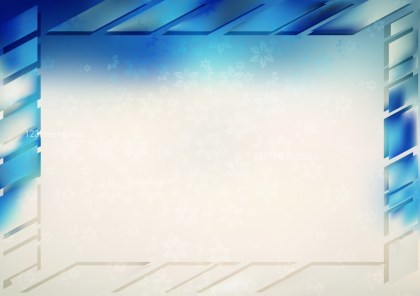 Blue and Beige Frame Background Vector Art