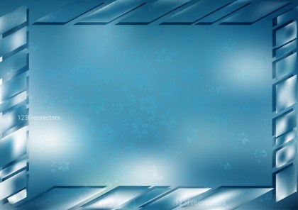 Blue and White Frame Background Vector Illustration