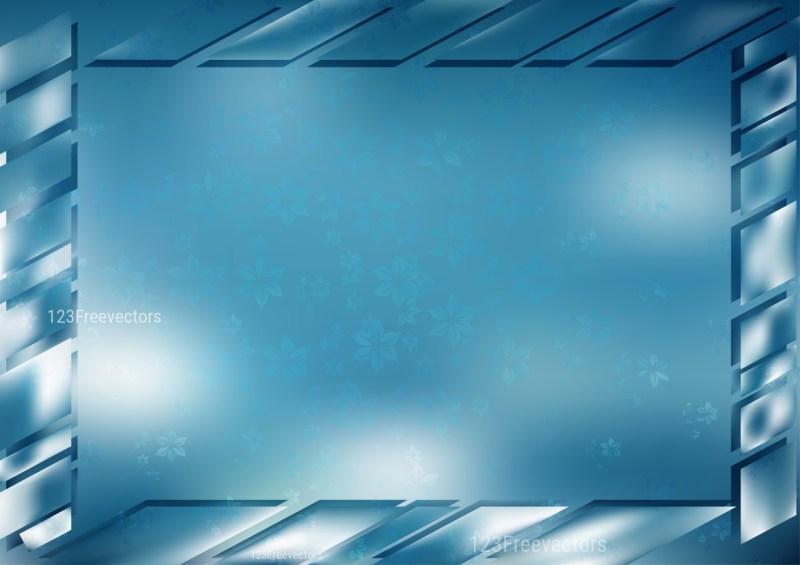 Blue and White Frame Background Vector Illustration