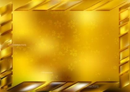Gold Frame Background Vector Illustration
