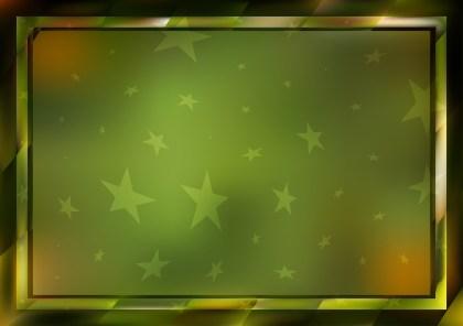 Green Orange and Black Frame Background
