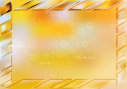 Orange and White Frame Background Vector Image