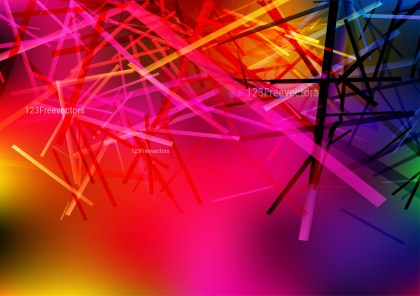 Pink Blue and Yellow Dynamic Random Lines Background