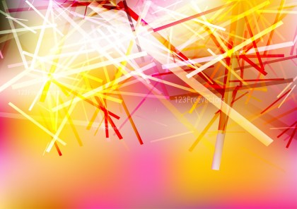 Pink Yellow and White Irregular Lines Background