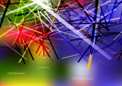 Red Green and Blue Irregular Lines Background Vector Art