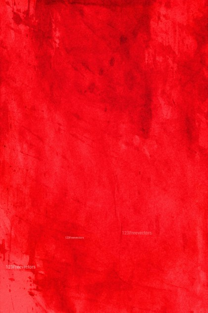 Bright Red Dirty Grunge Texture Background