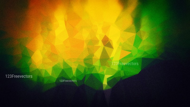 Green Orange and Black Grunge Background Image