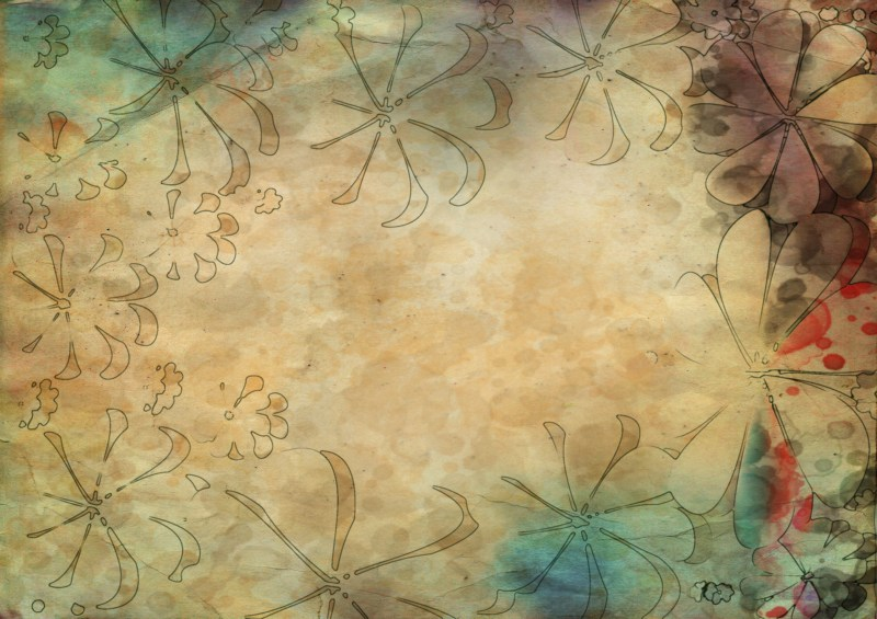 Turquoise and Brown Grunge Background