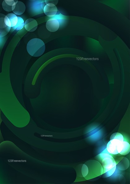 Shiny Abstract Black Blue and Green Background Illustration
