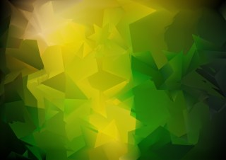Shiny Abstract Black Green and Yellow Background Vector