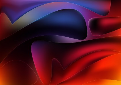 Abstract Shiny Black Red and Blue Background