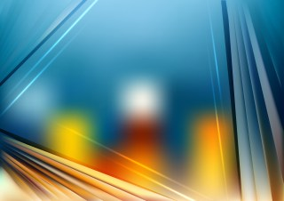 Abstract Shiny Blue and Orange Background