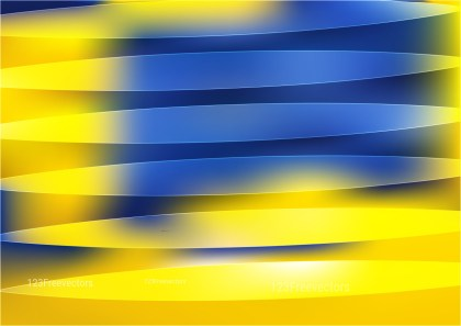 Abstract Shiny Blue and Yellow Background