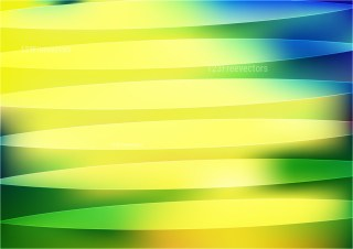 Abstract Shiny Blue Green and Yellow Background Vector