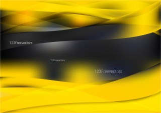 Abstract Cool Yellow Background Design
