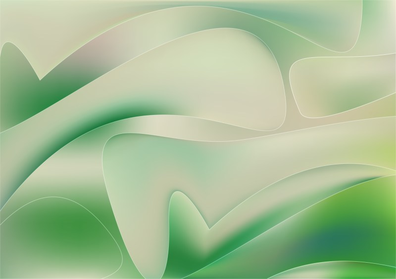 Abstract Green and Beige Graphic Background